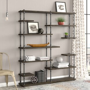 Cirillo Industrial Mid-Century Library Bookcase by Williston Forge Cool