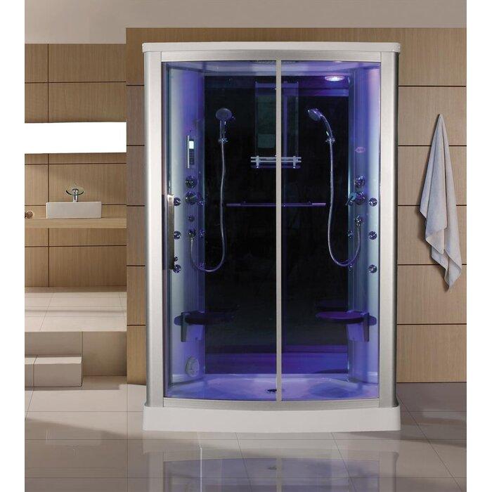 Eagle Bath Steam Shower.Eagle Bath 54 4 X 85 Rectangle Sliding Steam Shower With Base