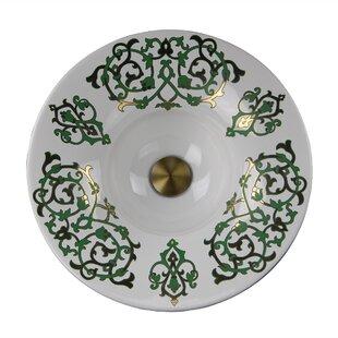 Nantucket Sinks Regatta Ceramic Circular Drop-In Bathroom Sink
