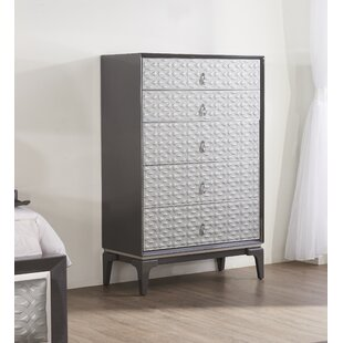 Amelio 5 Drawer Chest by House of Hampton