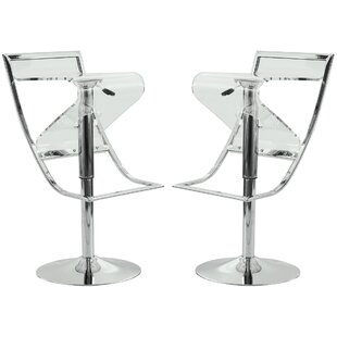 Napoli Adjustable Height Swivel Bar Stool (Set of 2) by LeisureMod