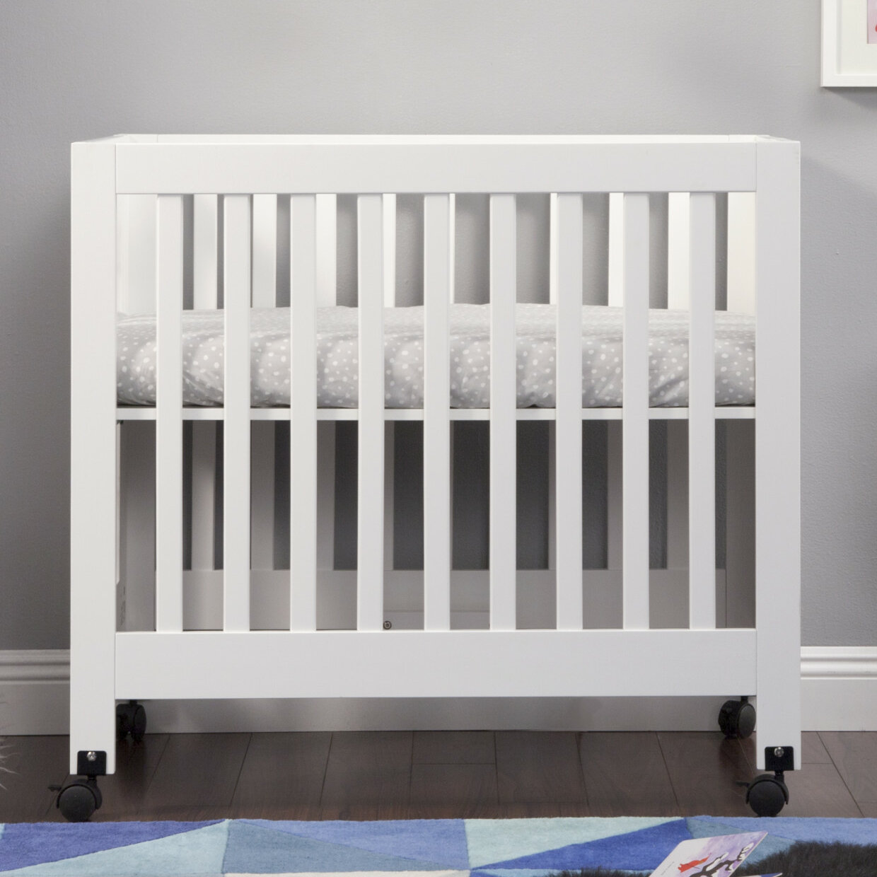 wood free product crib today baby origami babyletto overstock mini contemporary shipping