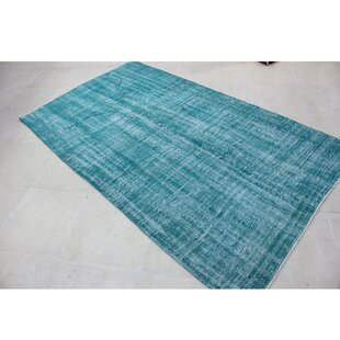 One-of-a-Kind Vintage Hand-Knotted Wool Blue/White Area Rug By Wildon Home ®