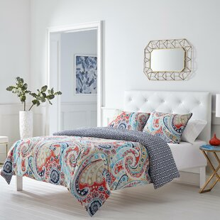 Mirage Paisley Reversible Duvet Cover Set