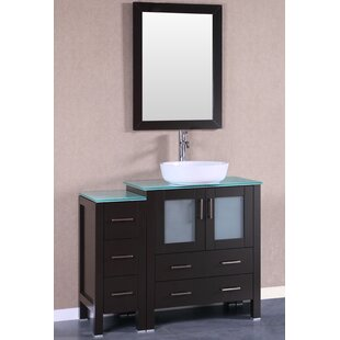Bruno 42 Single Bathroom Vanity Set with Mirror