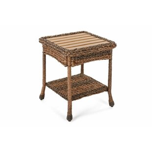 Wicker/Rattan  Side Table by August Grove