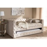 Pinehurst Deep Button Tufted Upholstered Daybed with Trundle by Red Barrel Studio®