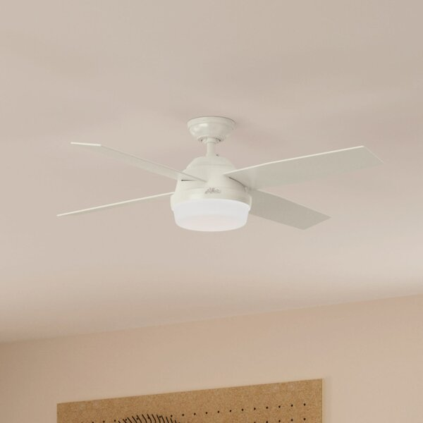 """Shop 52"""" Dempsey 4 - Blade LED Standard Ceiling Fan with Wall Control and Light Kit Included from Wayfair on Openhaus"""