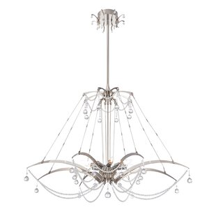 Gambari 8-Light Geometric Chandelier by Eurofase