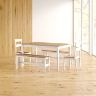 Saxon Solid Wood Dining Set By Zipcode Design