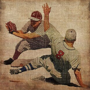 Vintage Baseball Wall Art | Wayfair