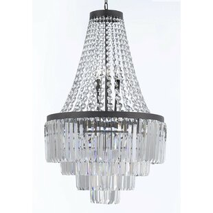 House of Hampton Keever Glass Fringe 11-Light Empire Chandelier