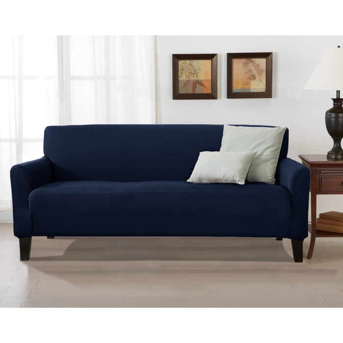 Surprising Solid Stretch T Cushion Sofa Slipcover Onthecornerstone Fun Painted Chair Ideas Images Onthecornerstoneorg