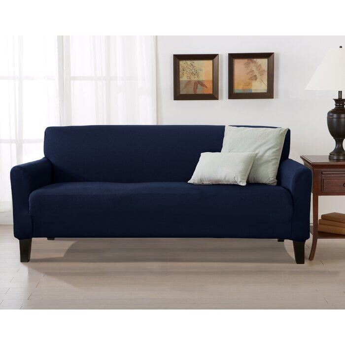 Awe Inspiring Solid Stretch T Cushion Sofa Slipcover Beatyapartments Chair Design Images Beatyapartmentscom