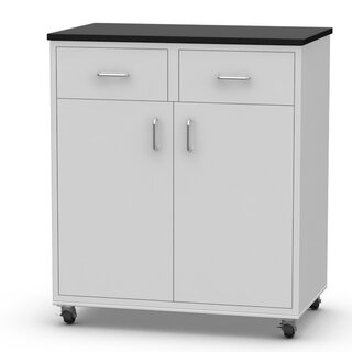 2 Drawer and 2 Door Rolling Modular Accent Cabinet by SteelSentry SKU:BE854844 Information