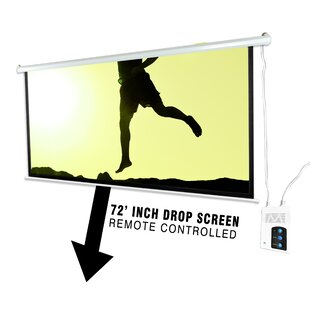 White Electric Projection Screen
