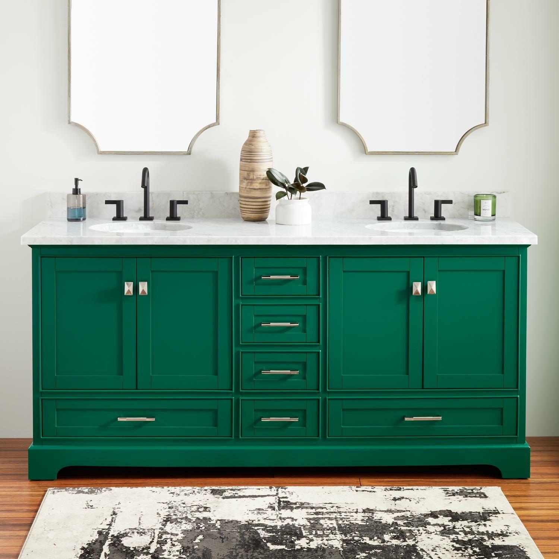 Signature Hardware Quen 73 Double Bathroom Vanity Set Wayfair