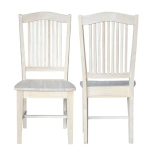 Wembley Solid Wood Dining Chair (Set of 2) Beachcrest Home
