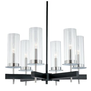 Sonneman Tuxedo 6-Light Shaded Chandelier