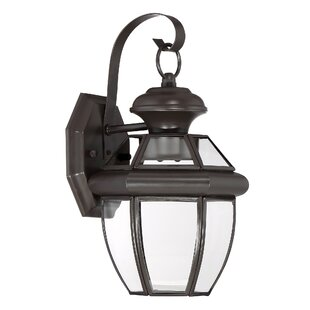 Mellen 1-Light Outdoor Wall Lantern by Three Posts