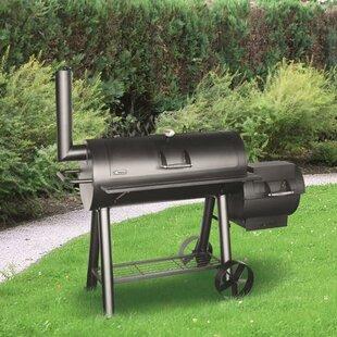 Premium Charcoal Offset BBQ Pit Smoker By Tepro