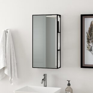 Cubiko Cabinet 30.4cm X 61.2cm Mirrored Wall Mounted Cabinet By Umbra