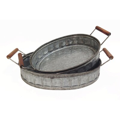 Wooden Tray With Metal Handles You Ll Love In 2019 Wayfair