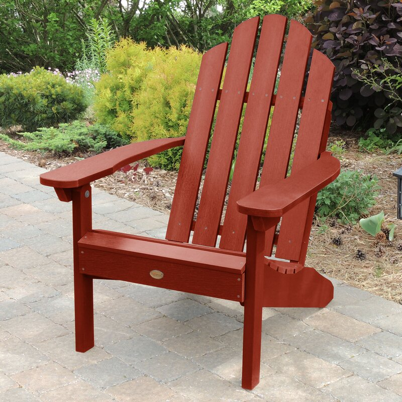 Highpoint Plastic Adirondack Chair With Table