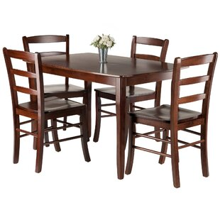 Shuman 5 Piece Solid Wood Dining Set