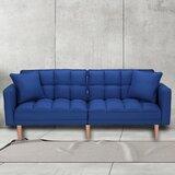Stevie Twin or Smaller 76 Biscuit Back Convertible Sofa by Corrigan Studio®