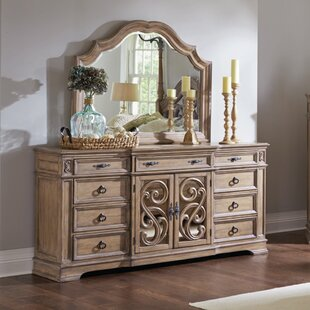 Comparison George 9 Drawer Combo Dresser with Mirror by One Allium Way