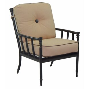 Provence Patio Dining Chair with Cushion (Set of 2)