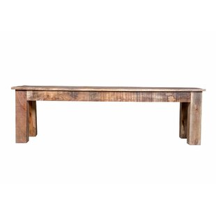 Karam Natural Raw Dining Wood Bench by Bloomsbury Market