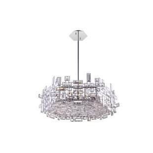 Arley 12-Light LED Crystal Chandelier by CWI Lighting