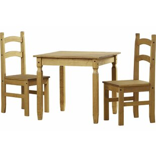 Wilmer Dining Set With 2 Chairs By Brambly Cottage