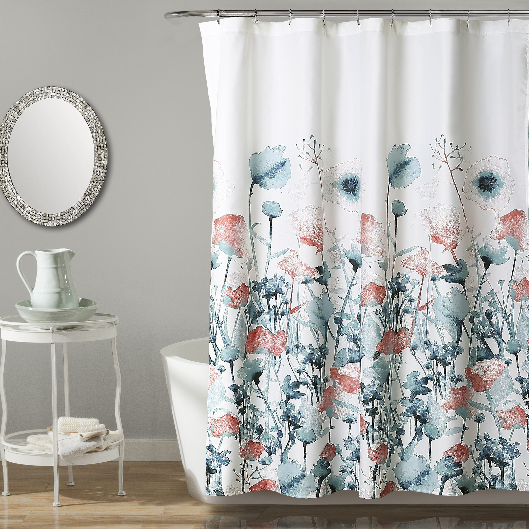 Brayden Studio Daniella Flora Single Shower Curtain Reviews