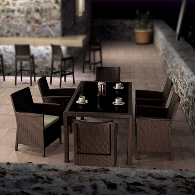 Brayden Studio Racheal 7 Piece Dining Set Color: Brown