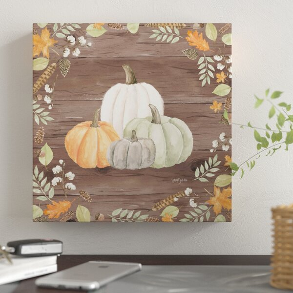 'Autumn Offering I Dark' Thanksgiving Wall Art Print on Canvas - Fall Decor