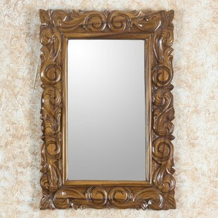 Novica Eternal Spring Artisan Crafted Classic Carved Wall Mirror