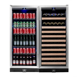 98 Bottle Dual Zone Built-In Wine Cooler by Kingsbottle
