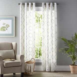 Winnett Geometric Grommet Single Curtain Panel