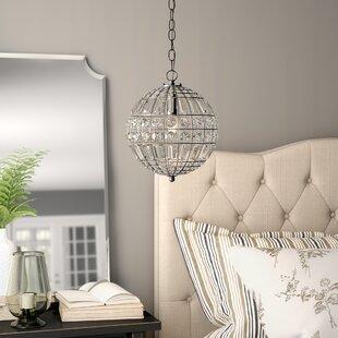 Elivra 1-Light Globe Pendant by Birch Lane? Heritage