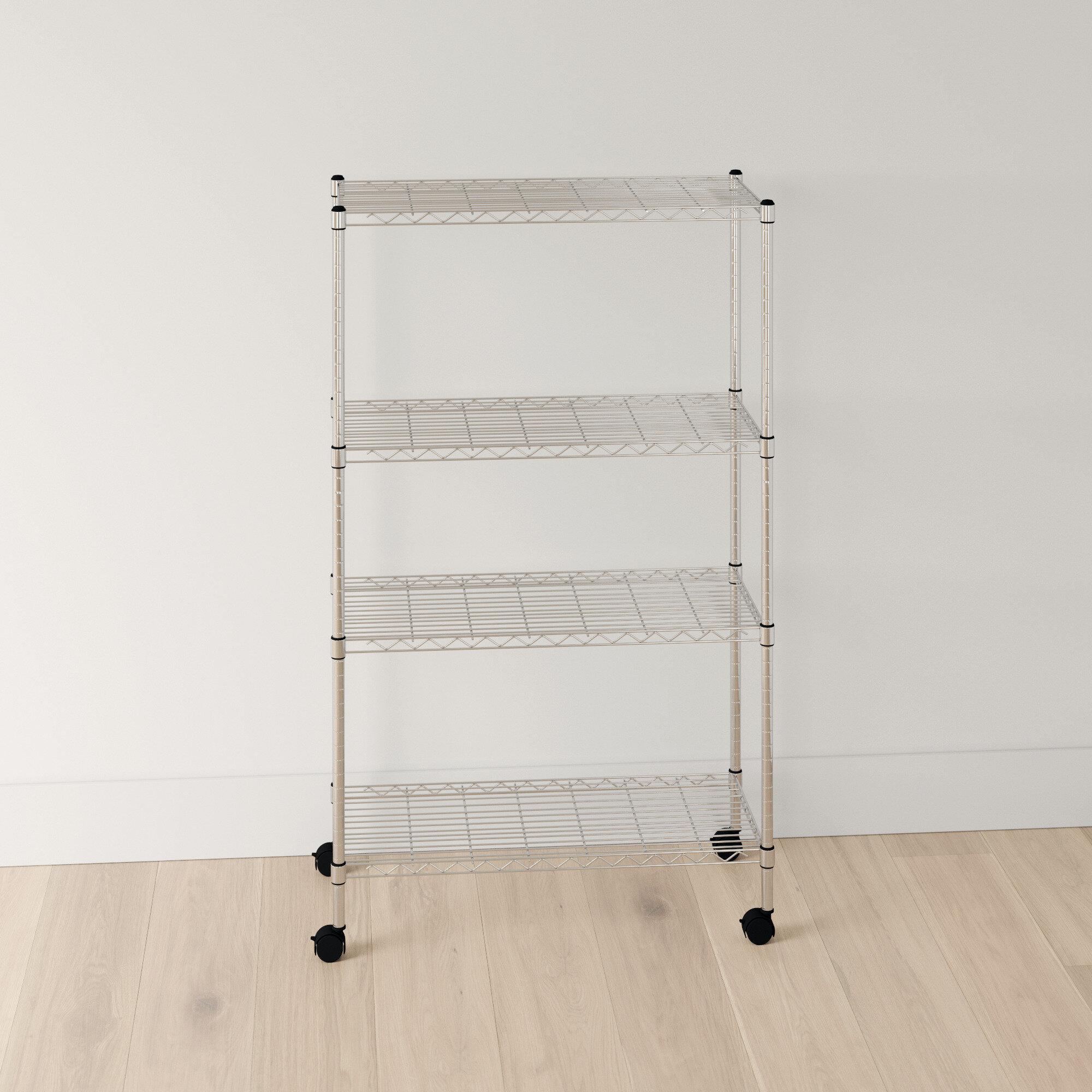 "Wayfair Basics 11"" H x 11"" W 11 Shelf Wire Shelving Unit"