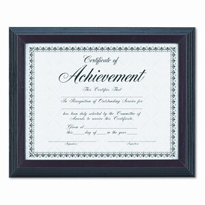 Solid Wood Award/Certificate Frame, 8.5