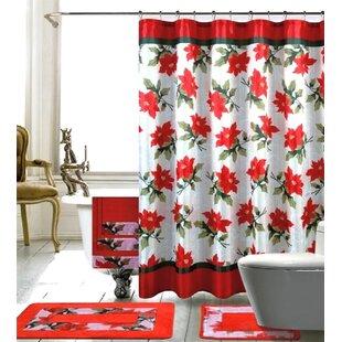 Christmas Shower Curtain.Beach Christmas Shower Curtain Wayfair
