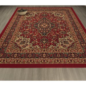 lucille red area rug