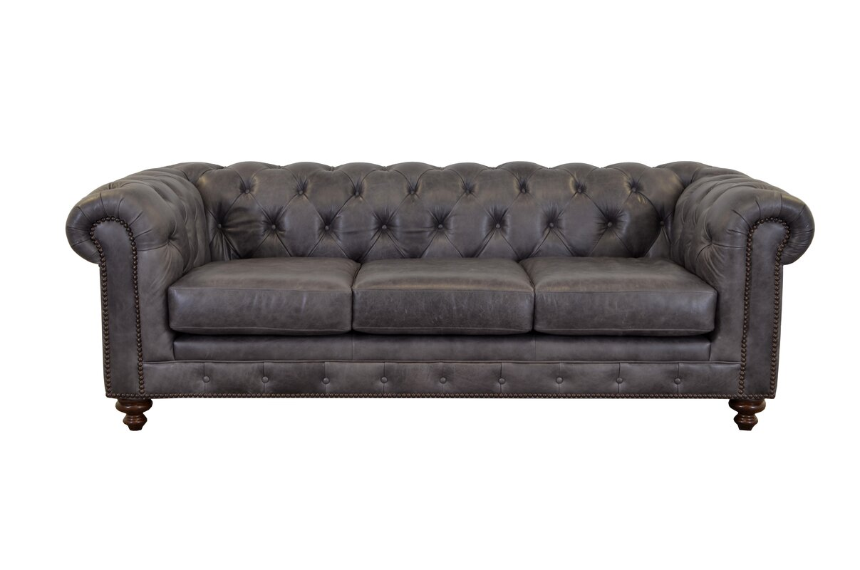 Newbury Leather Chesterfield Sofa