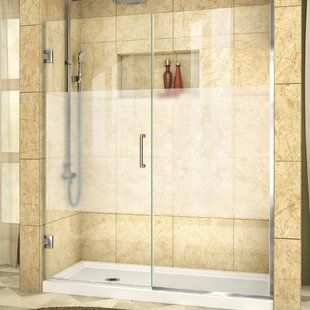 Compare prices Unidoor Plus 59 x 72 Hinged Frameless Shower Door with Clearmax™ Technology By DreamLine