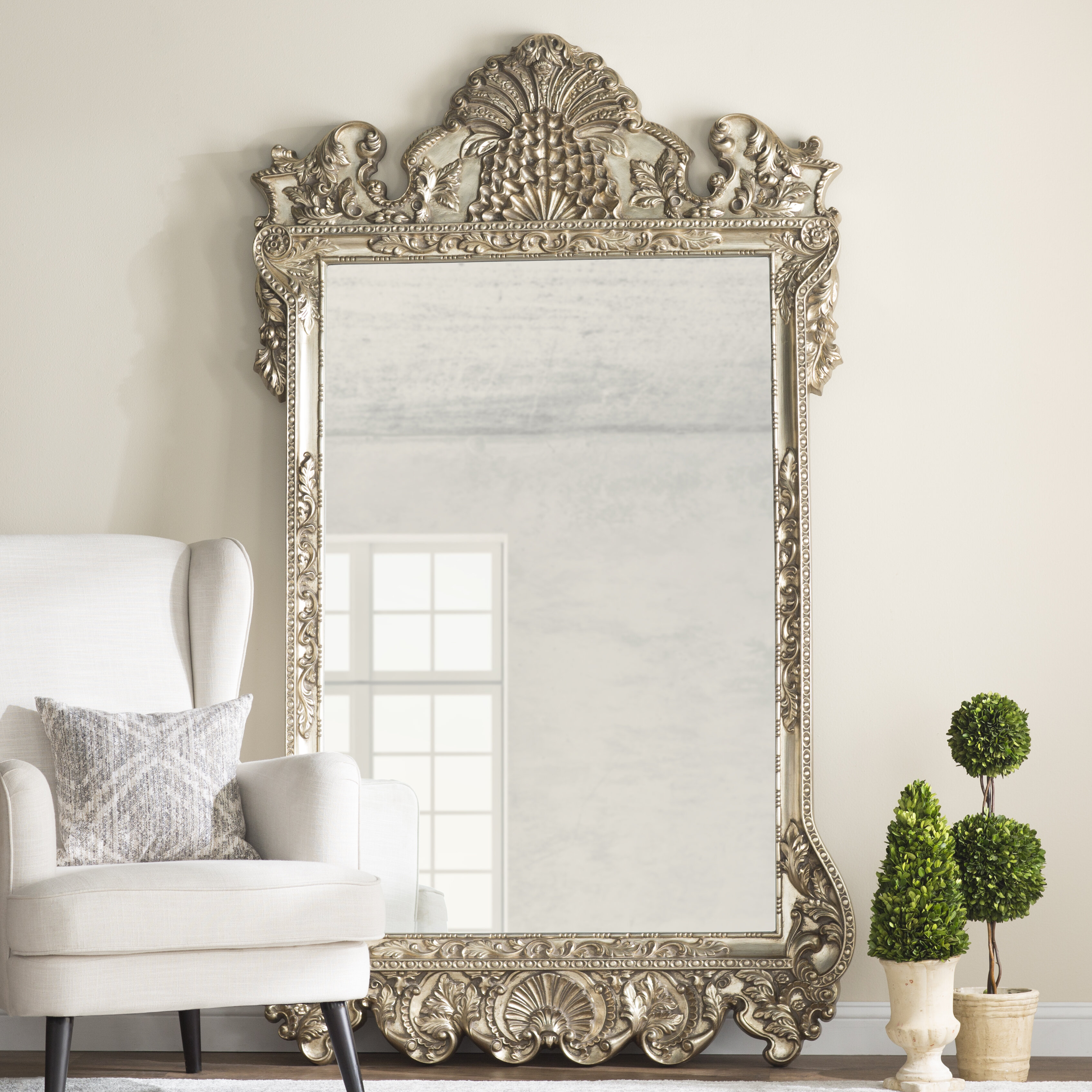 Traditional Beveled Full Length Mirror