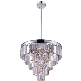 Weiss 7-Light Chandelier by CWI Lighting